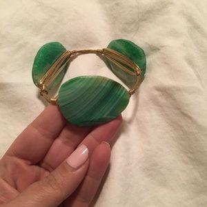 Bourbon & Bowties stone bracelet- Green